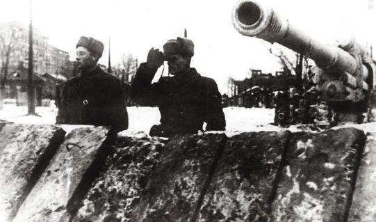 Зенитное орудие на Толстовской заставе. Ноябрь 1941 г.