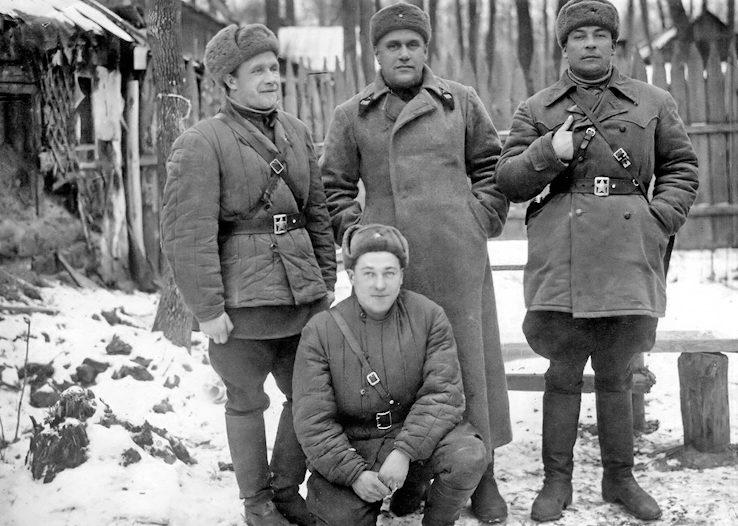 Командование 447 полка РГК. Декабрь 1941 г.