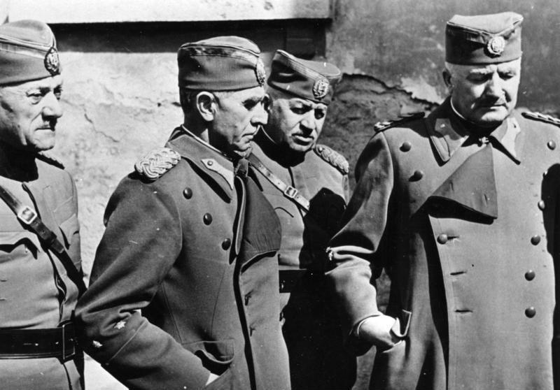 Сербские офицеры в плену. Апрель 1941 г.