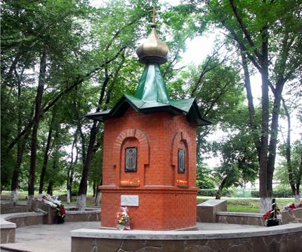 п. Каменоломни Октябрьского р-на. Памятник «Погибшим воинам».