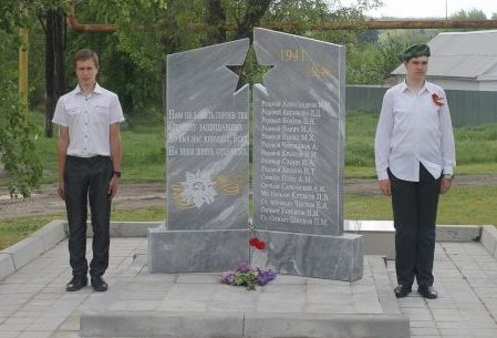 х. Красный Кут Октябрьского р-на. Памятник погибшим воинам в годы войны.
