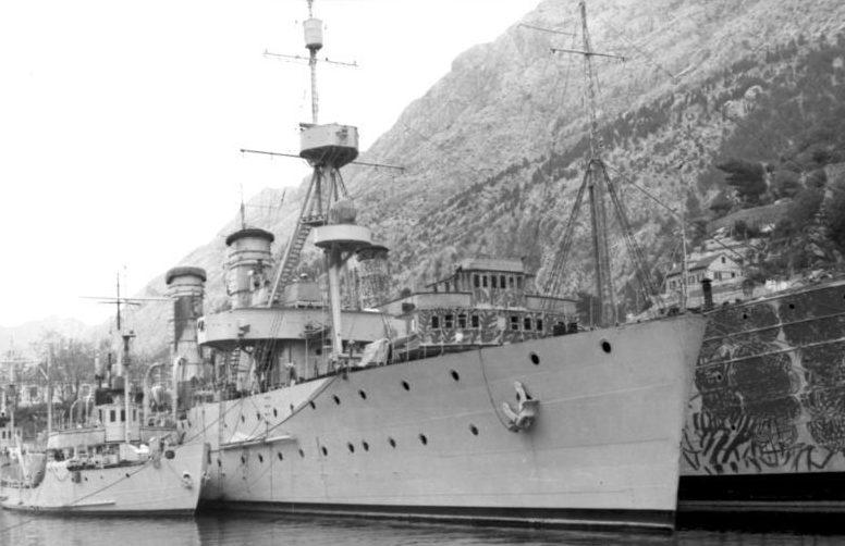Югославские корабли, захваченные Италией. Апрель 1941 г.