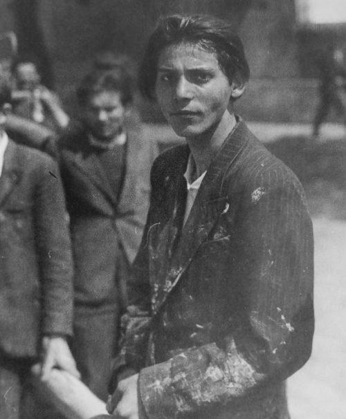 Жители Панчево, взятые в заложники немцами. Апрель 1941 г.