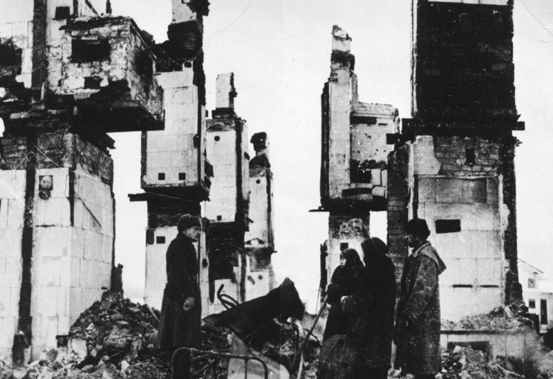 Руины разрушенной больницы. Январь 1941 г.