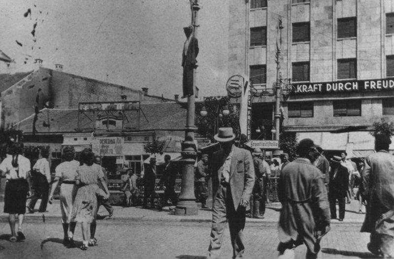 Казни на площади Теразия. Белград, август 1941 г.