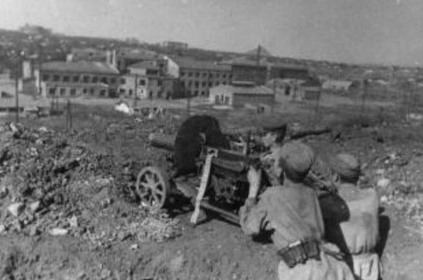 Бои на улицах Сталино. 7 сентября 1943 г.