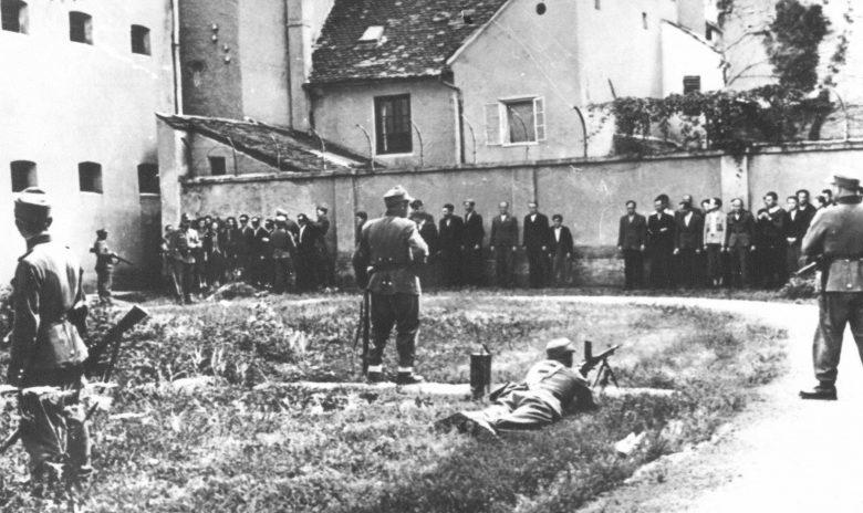 Расстрел заложников в городе Целе. Июль 1942 г.