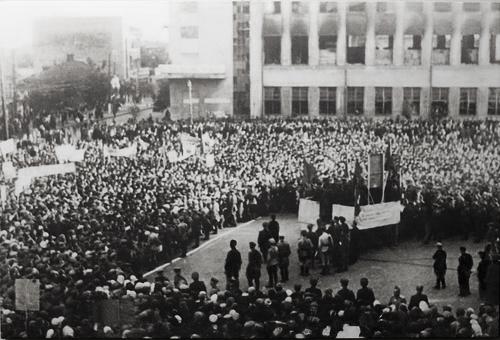 Митинг в честь освобождения города. 8 сентября 1943 г.