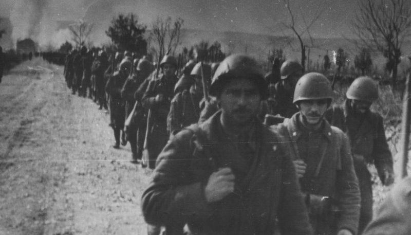 Поход итальянских войск в Динар. 1942 г.