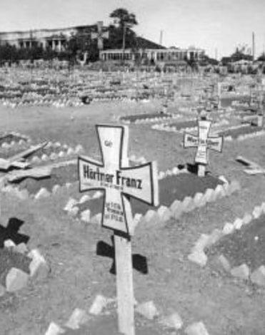 Немецкое кладбище в Сталино. Сентябрь 1943 г.