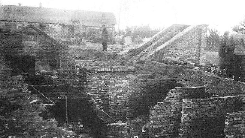 Разрушенный город. 1943 г.