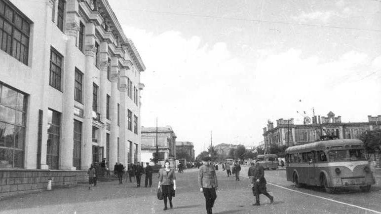 Центр города. 1945 г.