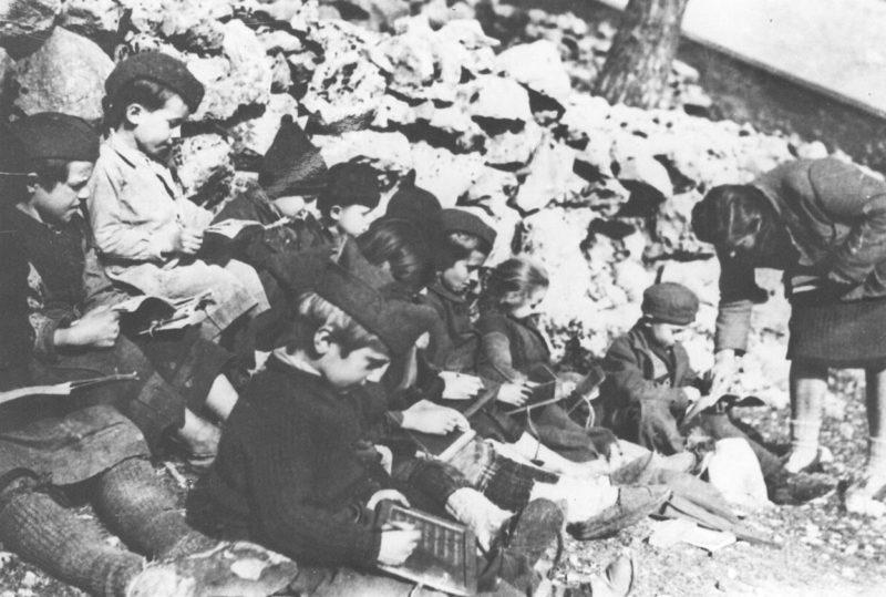 Партизанская школа у Истрии. 1944 г.
