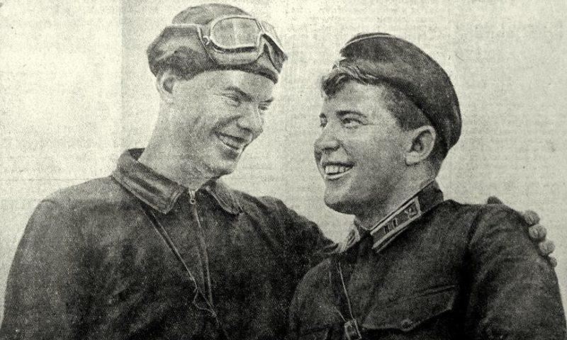Герои Советского Союза Грицевец и Кравченко. 1939 г.
