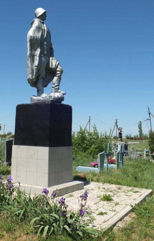 х. Валуйский Пролетарского р-на. Памятник на могиле неизвестных солдат.