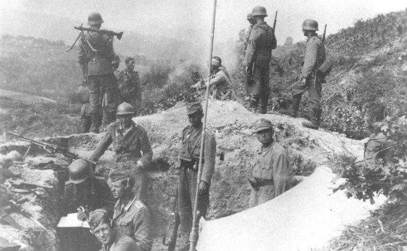 Немецкие войска на обороне Белграда. Октябрь 1944 г.