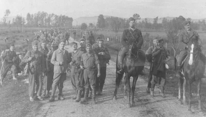 Бойцы батальона Гарибальди по пути в Белград. Октябрь 1944 г.