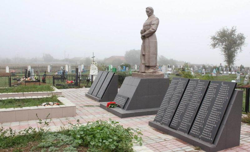 х. Николаевский 2-й Пролетарского р-на. Братская могила, в которой похоронено 376 советских воинов, павших в боях за хутор в январе 1943 года.
