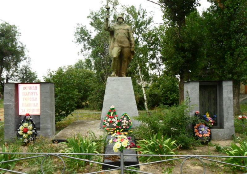 х. Терновской Шолоховского р-на. Памятник, установлен в 1974 году на братской могиле, в которой похоронено 283 воина.
