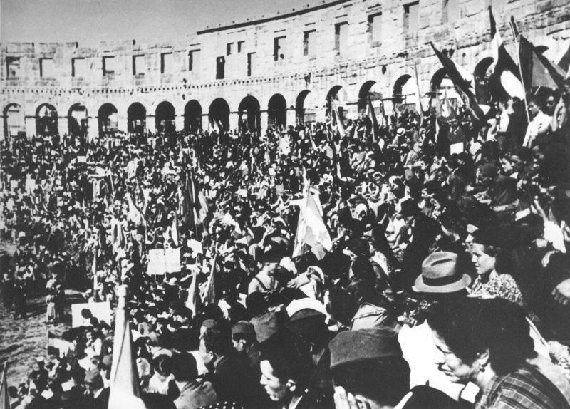 Празднование Дня Победы в Пуле. 13 мая 1945 г.