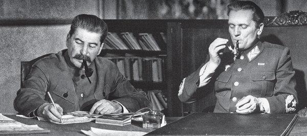 Иосиф Сталин и Броз Тито. 1945 г.