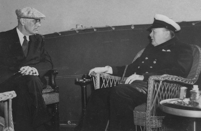 Франклин Д. Рузвельт и Черчилль на Мальте. 2 февраля 1945 г.