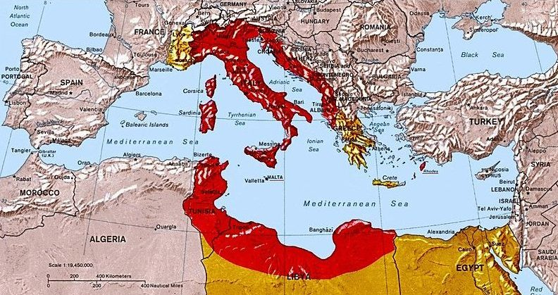 Карта «Большой Италии».