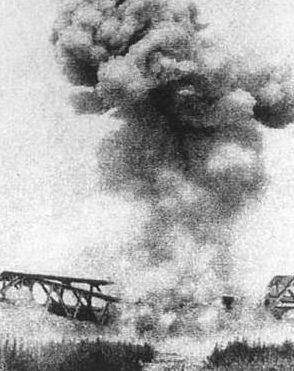 Бомбардировка Лонгхайской железной дороги.