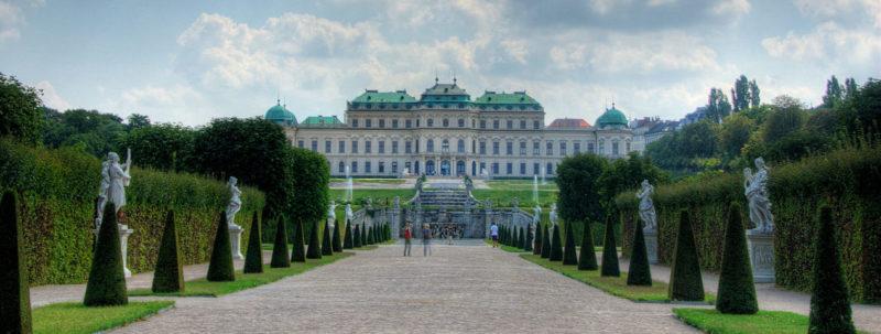 Бельведерский дворец в Вене, где проходил арбитраж.