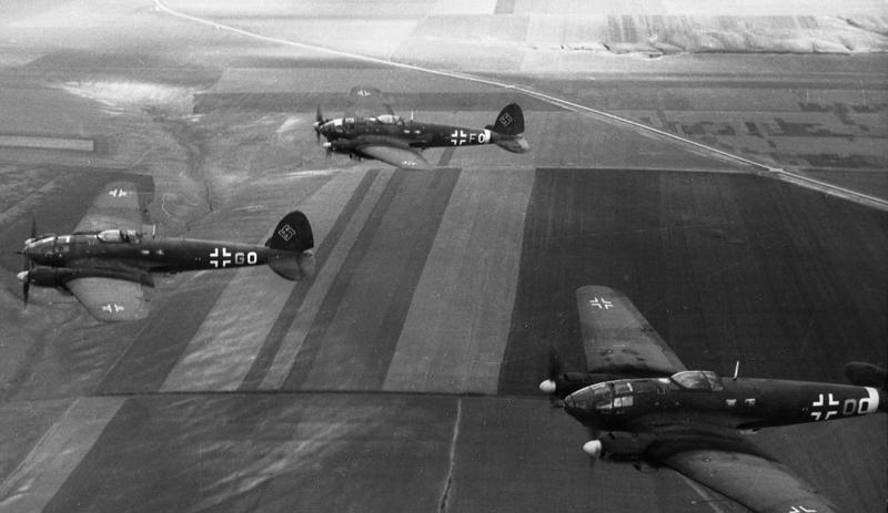 Первые бомбардировщики пересекают границу СССР. Июнь 1941 г.