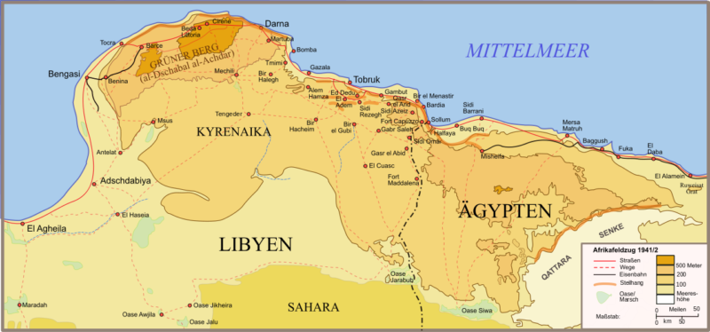 Карта боевой зоны проведения операции «Компас».