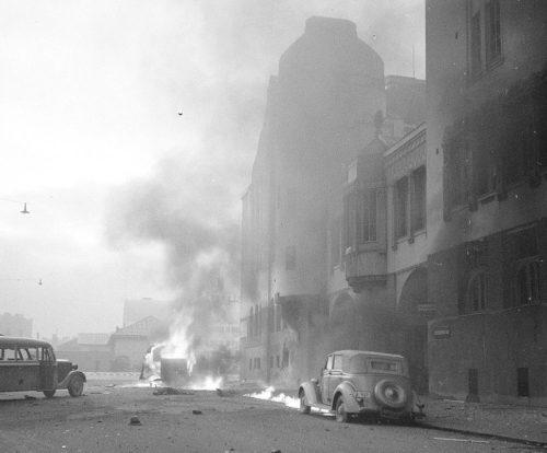 Последствия бомбардировки Хельсинки 30 ноября 1939 г.