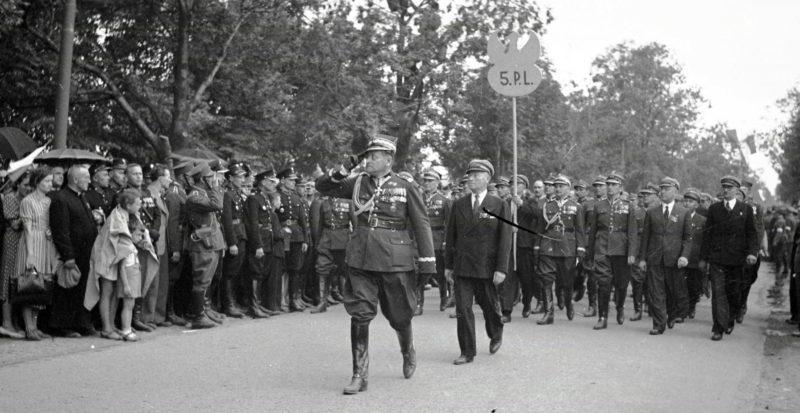 Шествие польских легионеров. Август 1939 г.