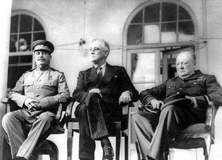 Тегеранская конференция в 1943 году.