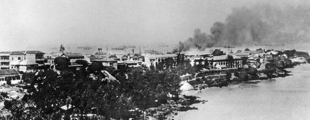 Обстрел Союзниками Дакарской гавани.