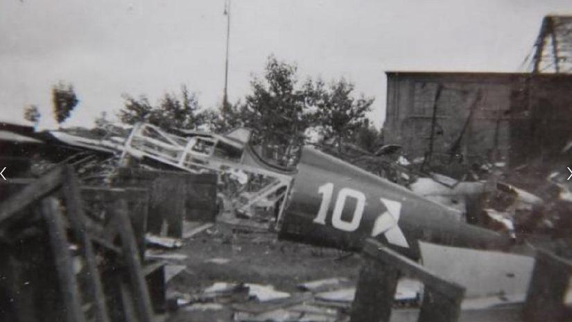 Остатки военного аэропорта Раковице Чижины. Сентябрь 1939 г.