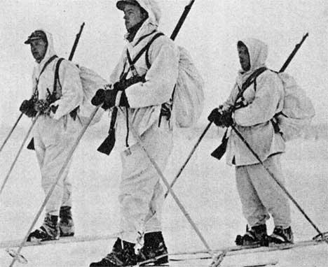 Норвежские добровольцы в Финляндии. Декабрь 1939 г.