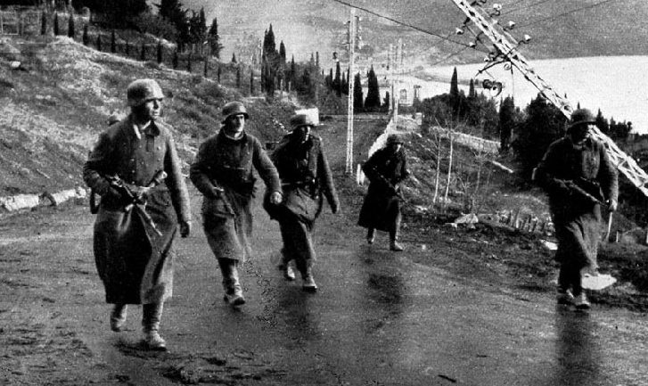 Немцы в окрестностях Ялты. Ноябрь 1941 г.