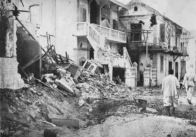 Разрушения в Дакаре.