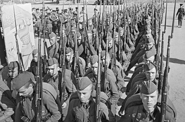 Мобилизация в Москве. 1941 г.