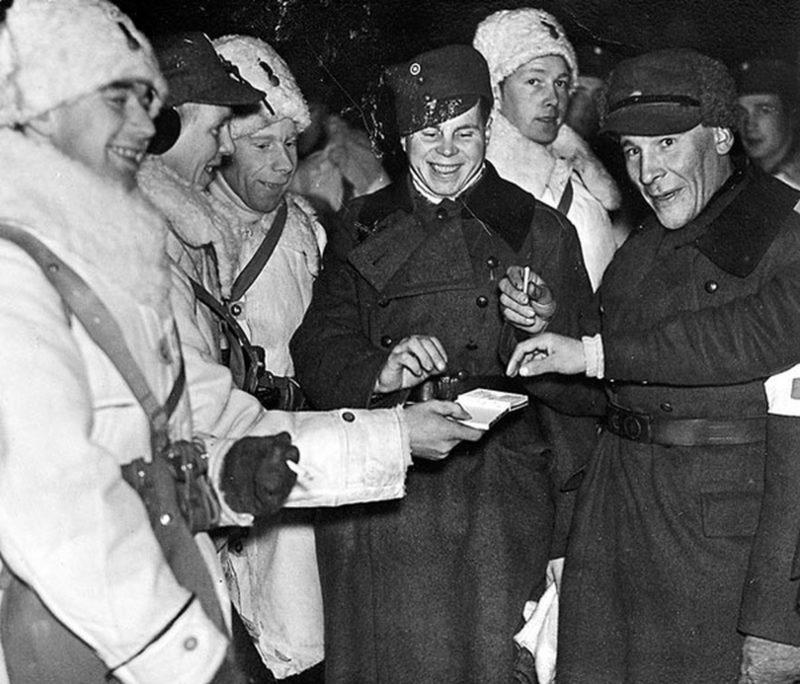 Добровольцы США и Канады в Финляндии. Декабрь 1939 г.