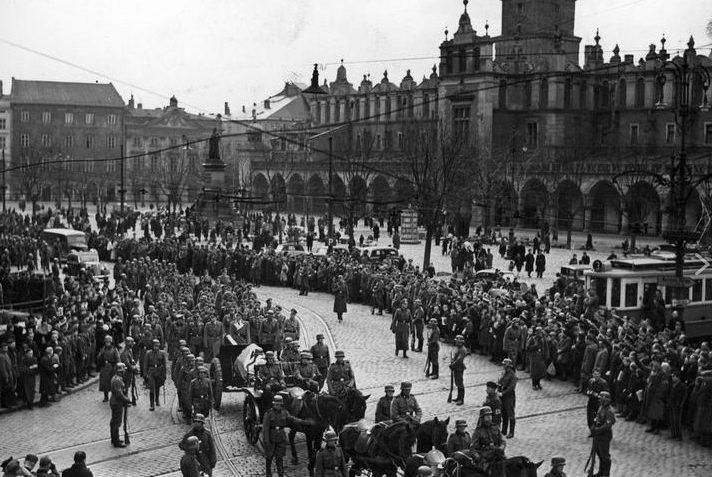 Похороны гауптшурмфюрера СС. Апрель 1940 г.