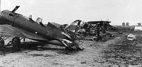 Разбитый советский аэродром.