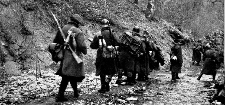 Немецкие войска на Крымских перевалах. Ноябрь 1941 г.