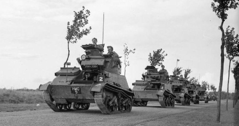 Легкие танки Mk-VI в районе хребта Вими. 12 октября 1939 г.