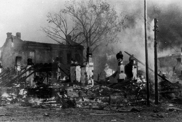 Результаты бомбардировки Минска. 24 июня 1941 г.