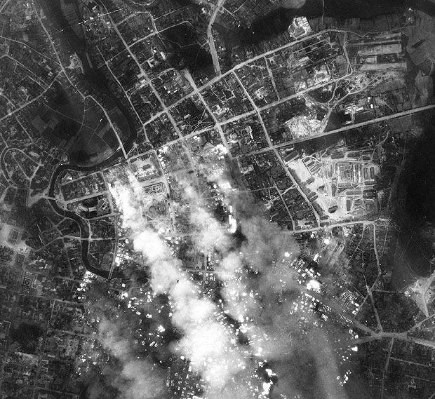 Контрольная немецкая аэрофотосъемка бомбардировки Минска. 24 июня 1941 г.