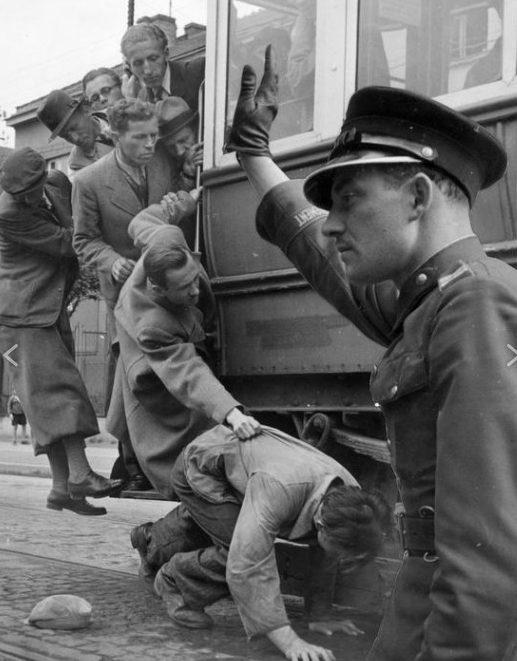Городской трамвай. Июль 1941 г.