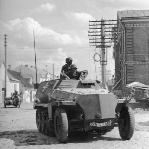 Немцы входят в Латвию. Июнь 1941 г.