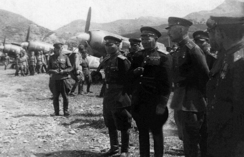 Плиев во время советско-японской войны. 1945 г.